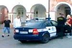Flucht aus einem Polizeiwagen