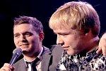 Michael Buble singt mit Zuschauer