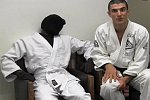 Streich in einer Jiu-Jitsu-Schule