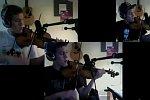 Save The World auf der Geige
