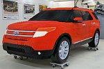 Ein Auto aus Lego im Zeitraffer