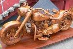 Harley Davidson Nachbau aus Holz
