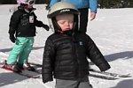 Anstrengender Tag auf Skiern
