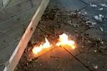 Brennende Baumwolle