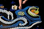 Sternennacht mit Dominosteinen