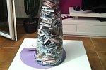 Vase voller Euroscheine