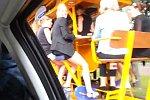 Abklatschen mit einem Bierwagen