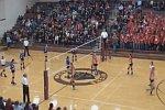 Kopfschuss beim Volleyball