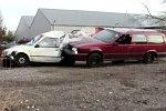 Einen Volvo verschrotten