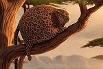 Aufgeblasene Tiere in Afrika