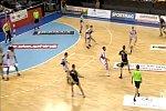 Handball-Tor vom Torwart