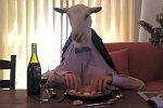 Abendessen mit einer Ziege