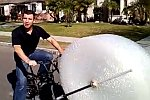 Fahrrad mit eingebauter Luftpolsterfolie