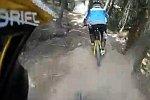 Fiese Abzweigung für Mountainbiker