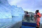 Forscher kommen einem Gletscher fast zu nah