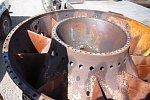 Schraube fällt in eine Turbine