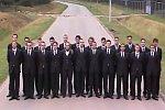 Gruppenfoto mit Hintergrundmotiv