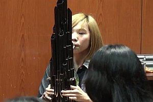 Super Mario auf chinesischem Blasinstrument