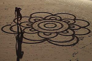 Bilder im Sand