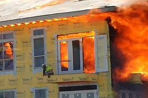Rettung vor einem Großfeuer