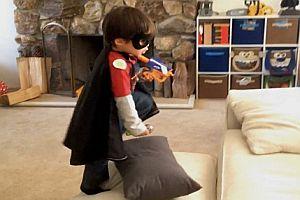 Kind mit Superkräften
