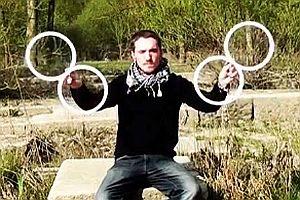 Optische Täuschung beim Jonglieren