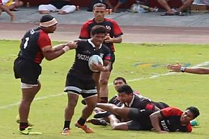 Kampf beim Rugby