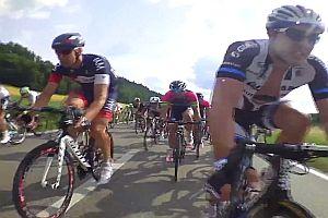 Mitten im Sprint der Tour de Suisse