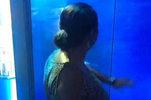Frau wird vom Hai angegriffen