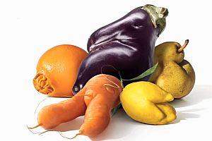 Hässliches Obst und Gemüse