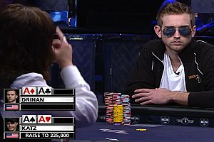 Zwei Ass-Paare in einer Pokerrunde