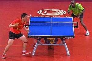 Langer Ballwechsel beim Tischtennis