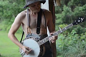 Thunderstruck auf einem Banjo