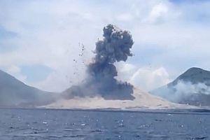 Druckwelle nach Vulkanausbruch
