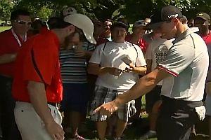 Golfball landet in Hosentasche von Zuschauer