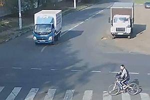 Unfall auf einer Kreuzung