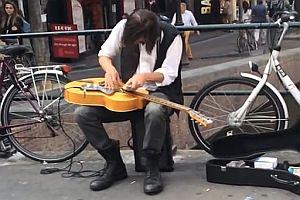 Straßenmusiker Jack Broadbent