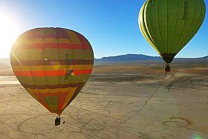 Sprung von einem Heißluftballon