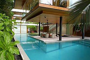 Luxushaus mit Unterwasser-Fernsehzimmer
