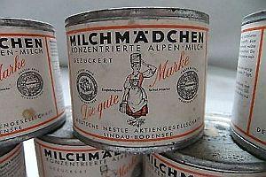 65 Jahre alte Milchdosen