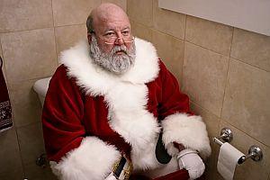 Der Weihnachtsmann auf dem Klo