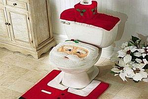 Weihnachtsdeko für die Toilette