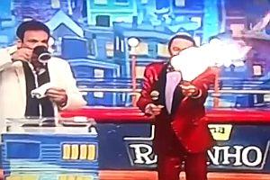 Feuerspucker in Fernsehshow
