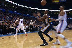 Ungewöhnlicher Treffer beim Basketball