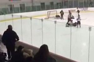 Aggressiver Vater beim Kinder-Eishockey