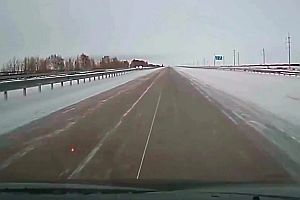 Schneeräumfahrzeug in Kasachstan