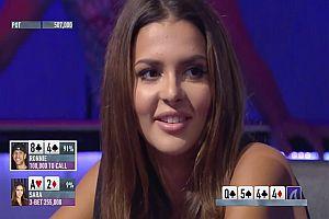 Miss Finland blufft beim Pokern