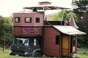 Fahrendes Haus in einem Truck