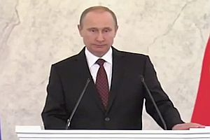 Wladimir Putin sprachlos