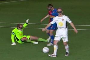 Fußballspielen mit Sicht aus Vogelperspektive
